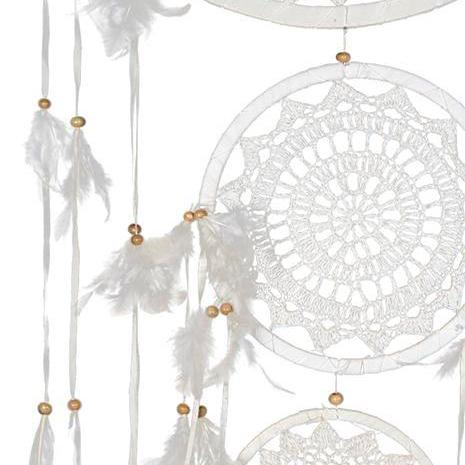 Dream Catcher Whitecream Crochet Feathers Styled Event Hire