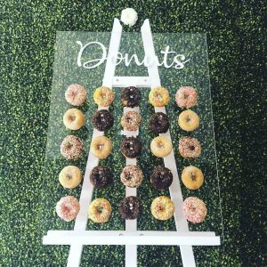 Donut Wall Hire Including Easel Stand For Events In