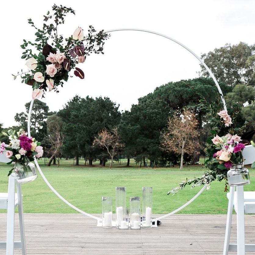 Outdoor Wedding Arch: White Circular Arch Hire For Weddings & Engagements St