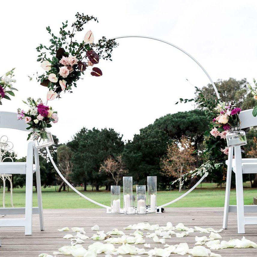 Rose Gold Rustic Wedding Decor
