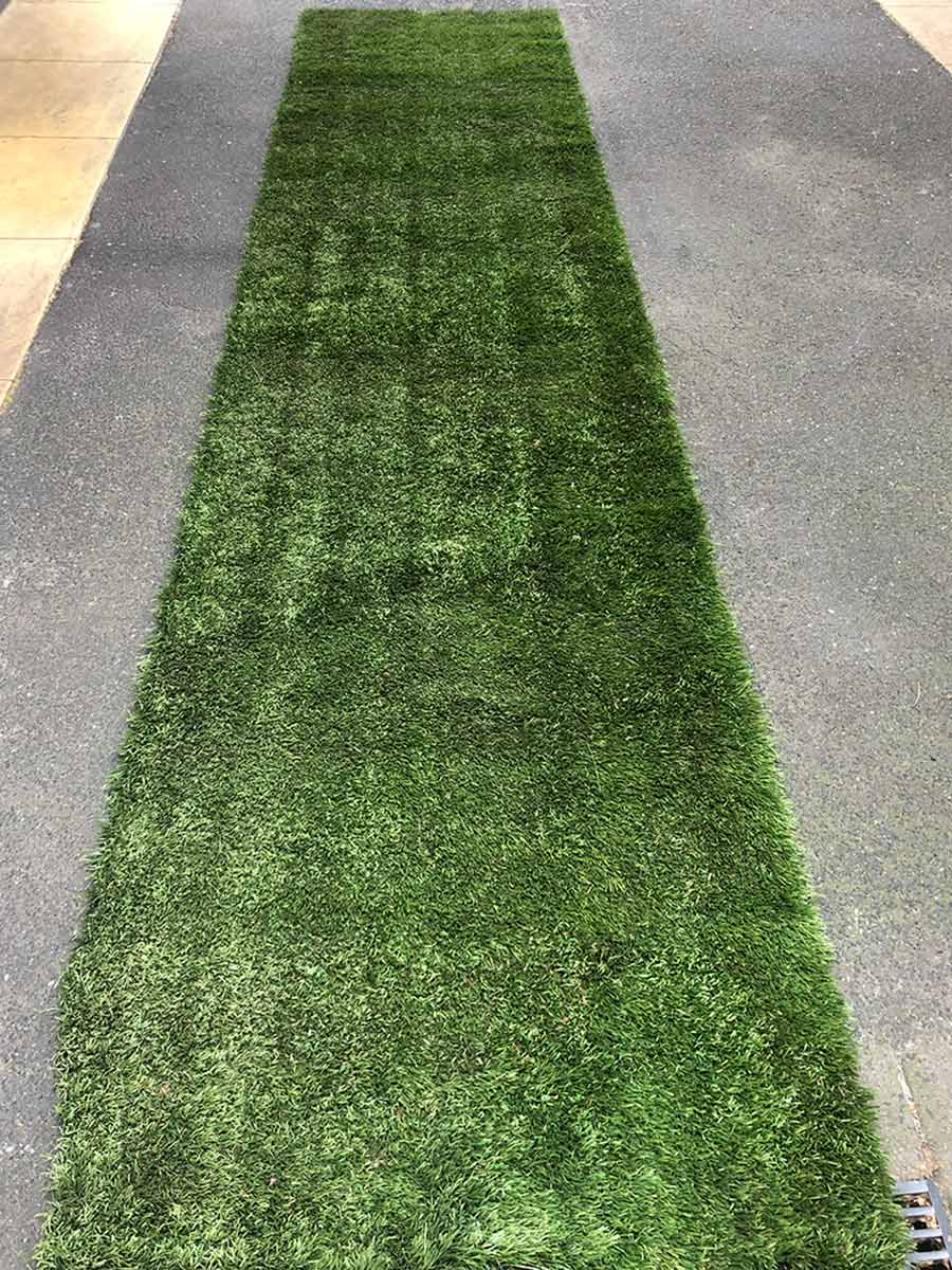 Green Artificial Turf Aisle Runner For Indoor Or Outdoor Events Styled Event Hire