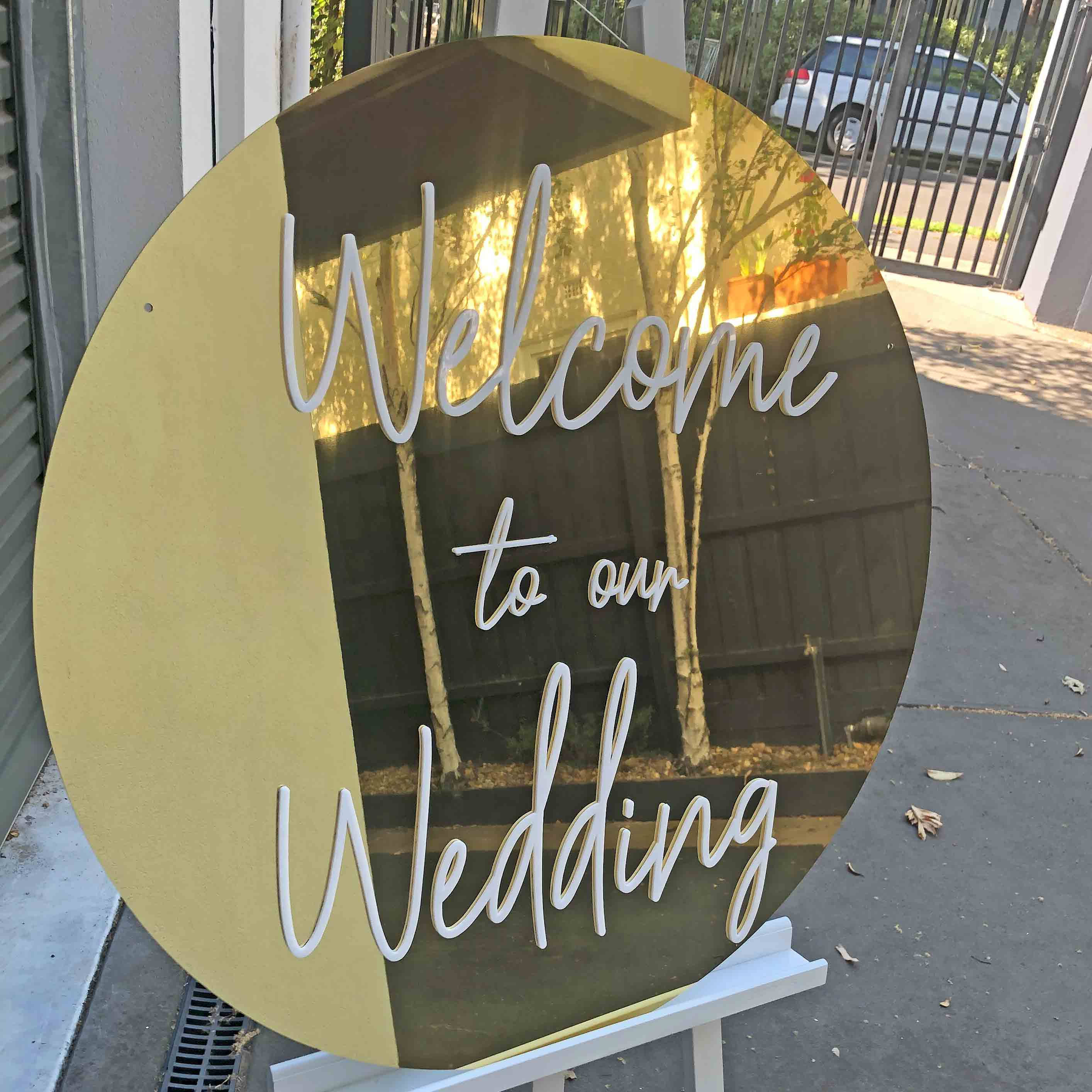 Gold Wedding Signage Quot Welcome To Our Wedding Quot Hire Now Styled Event Hire